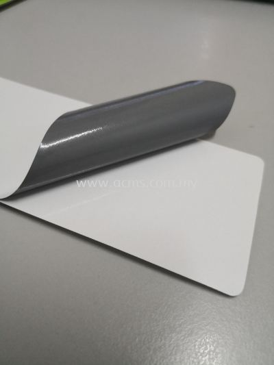 SOLVENT VINYL STICKER WITH GREY GLUE