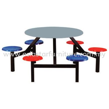 6 SEATER ROUND FIBREGLASS WITH STOOL