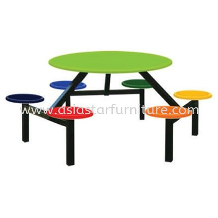 6 SEATER ROUND FIBREGLASS WITH STOOL (COLOR)
