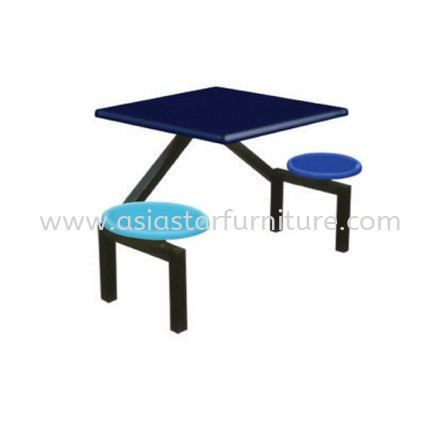 2 SEATER FIBREGLASS TABLE WITH STOOL- canteen table uptown pj | canteen table centrepoint bandar utama | canteen table selayang