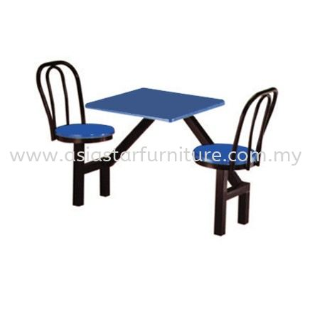 2 SEATER FIBREGLASS TABLE WITH CHAIR- canteen table uptown pj | canteen table centrepoint bandar utama | canteen table selayang