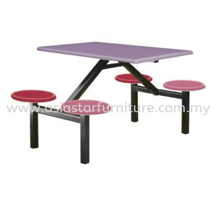 4 SEATER ROUND STOOL WITHOUT BACKREST (PINK)