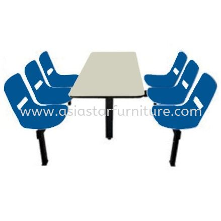 6 SEATER CAFETERIA TABLE WITH CHAIR- canteen table subang 2 | canteen table setia alam | canteen table jalan ipoh