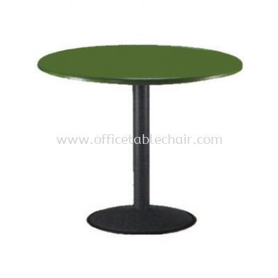 FIBREGLASS ROUND TABLE WITH DRUM BASE