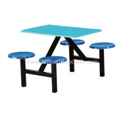 4 SEATER FIBREGLASS TABLE WITH STOOL