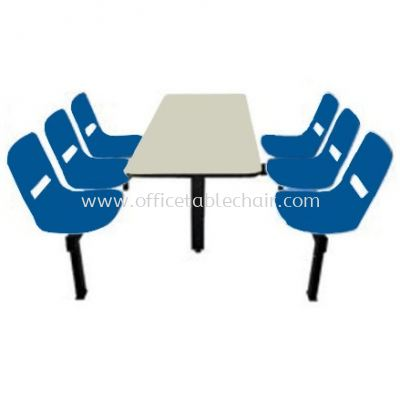 6 SEATER CAFETERIA TABLE WITH CHAIR - SC7