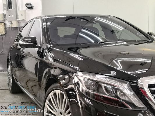 The Black Beauty Mercedes S400 Finished Coating Maintainence After 3 Month , By STE AUTO DETAILING Team.