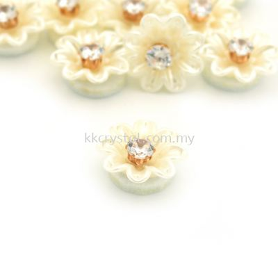 Handmake Flower, Code 94#, Color 36# Cream, 10pcs/pack