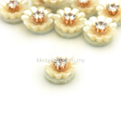 Handmake Flower, Code 93#, Color 36# Cream, 10pcs/pack