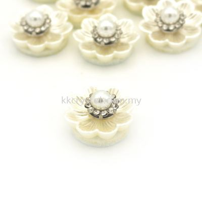 Handmake Flower, Code 95#, Color 36# Cream, 10pcs/pack