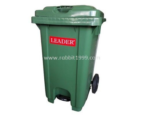 LEADER STEP ON GARBAGE BIN - 120 Litres