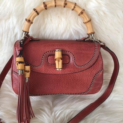Gucci Bamboo Tassel Full Leather with Strap