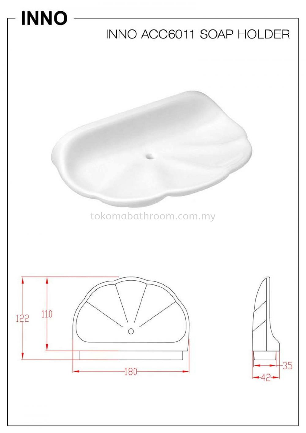 INNO-ACC6011 Ceramic Accessories Inno Perak, Malaysia, Ipoh Supplier, Suppliers, Supply, Supplies | Tokoma Bathroom