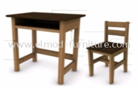 Solid Wood Table & Chair