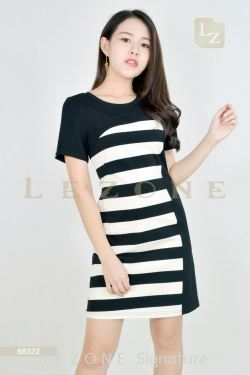 88322 STRIPED DRESS【Online Exclusive Promo 41% OFF】