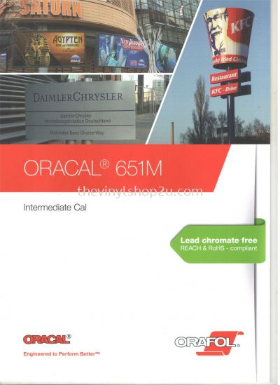 ORACAL® 651 INTERMEDIATE CAL VINYL CATALOG - MATTE