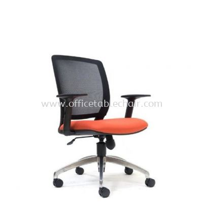 UMAX LOW BACK MESH CHAIR WITH ALUMINIUM ROCKET DIE-CAST BASE ASE 2771