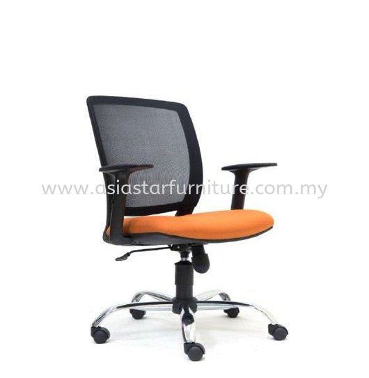UMAX LOW BACK MESH CHAIR WITH CHROME ASE 2772