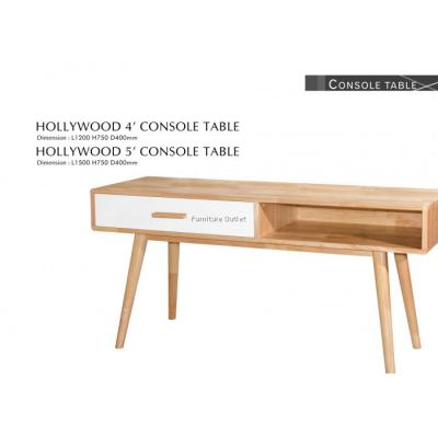 HOLLYWOOD CONSOLE TABLE 4' MALAYSIA