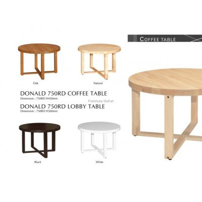 DONALD LOBBY / COFFEE TABLE + DONALD RD / SQ LAMP (END) TABLE MALAYSIA