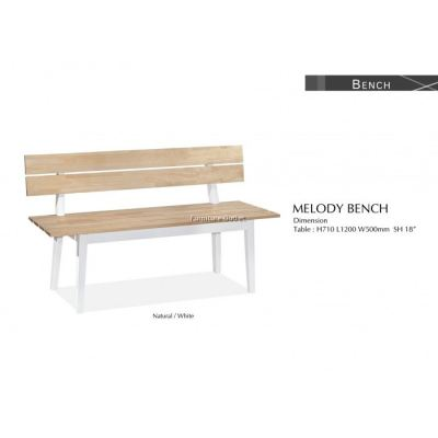 MELODY BENCH (WITH BACKREST) MALAYSIA