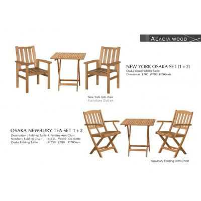 OSAKA+NEWBURY FOLDING ARM CHAIR TEA SET(1+2) MALAYSIA