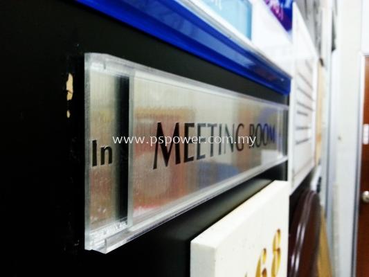 Door Signage - Acrylic with Sticker