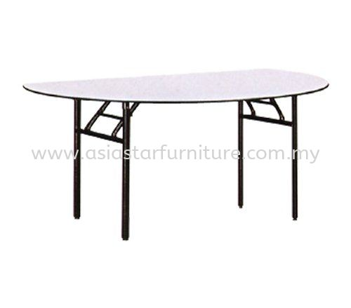 HALF ROUND BANQUET TABLE (16mmTHK Melamine Top)- banquet table taipan 2 damansara   banquet table pusat dagangan nzx   banquet table kajang
