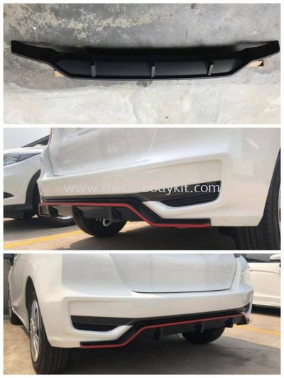 HONDA JAZZ 2017 V1 REAR DIFFUSER