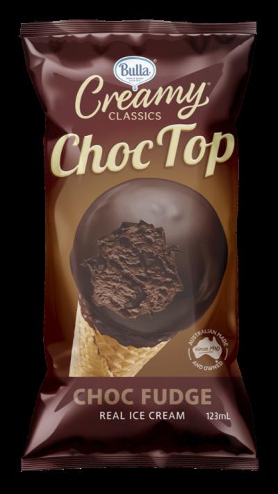 Bulla Creamy Classics Choc Top Choc Fudge