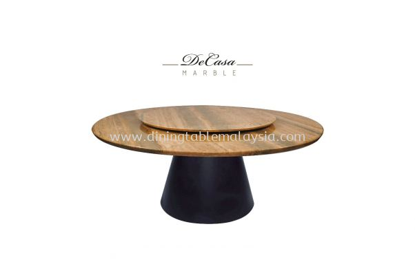 Beige Marble Dining Table - Roma Travertine