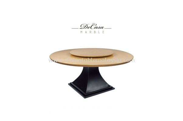 Beige Marble Dining Table - Perlatino Marble