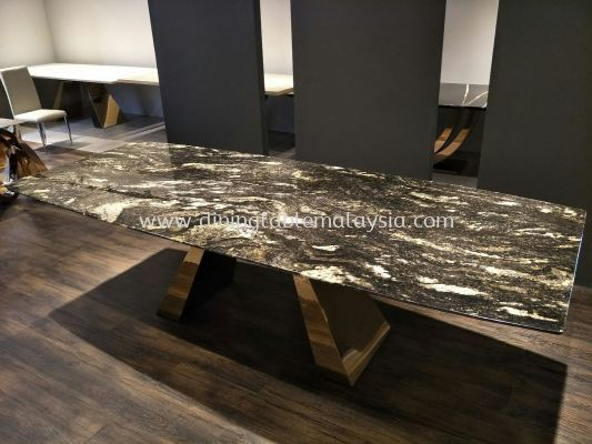 Granite Dining Table - Cosmic Gold Granite