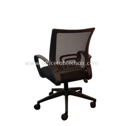 UNI MESH LOW BACK CHAIR WITH NYLON BASE (BACK)