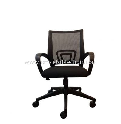 UNI MESH LOW BACK CHAIR WITH NYLON BASE (FRONT)