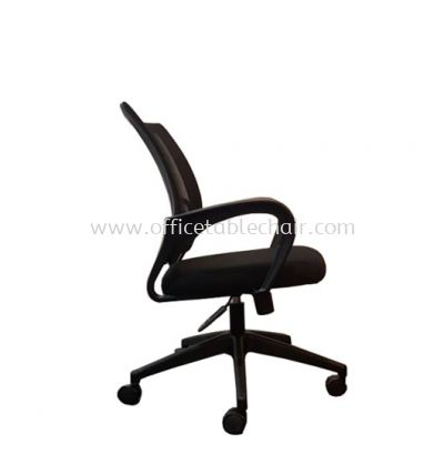 UNI MESH LOW BACK CHAIR WITH NYLON BASE (SIDE)