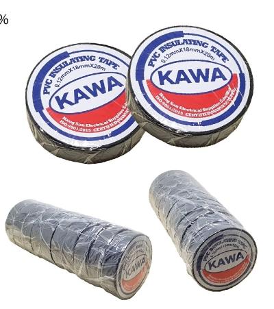 <18MMX20M KAWA   INSUL TAPE [BLACK] - BIG - 00496K