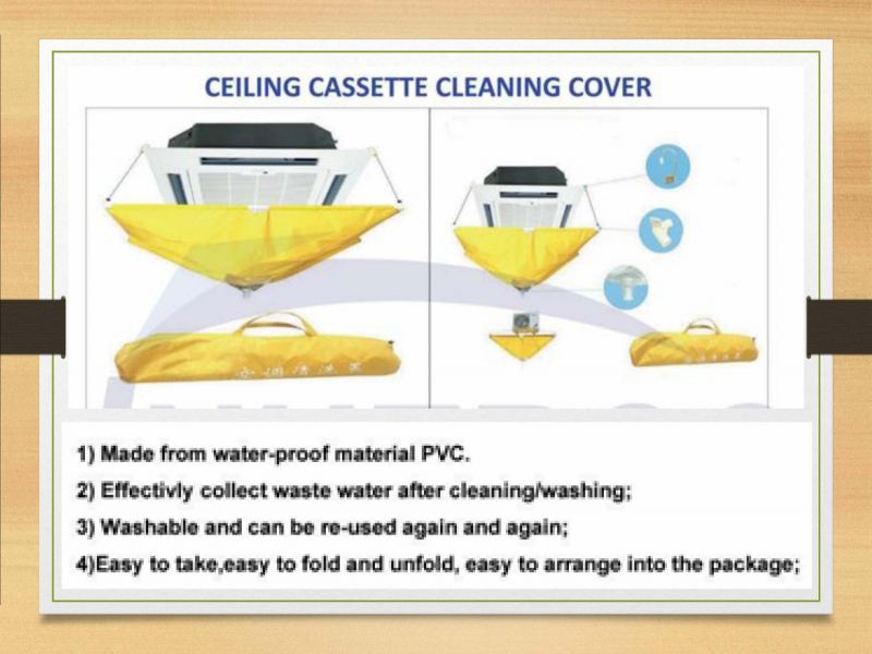 CULMI IC-ACCC03 (YELLOW) FULL CLEANING BAG FOR CEILING CASSETTE A/C
