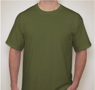 Lefonse Tubular 100% Cotton Round Neck 160gsm (RC01-22) Army Green