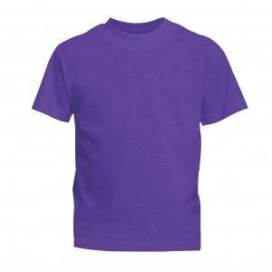 Lefonse Kid Tubular 100% Cotton Round Neck 160gsm (RCK01-21) Purple