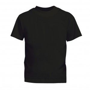 Lefonse Kid Tubular 100% Cotton Round Neck 160gsm (RCK01-01) Black