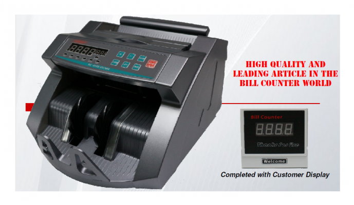 BC-8100 UV/MG Note Counter