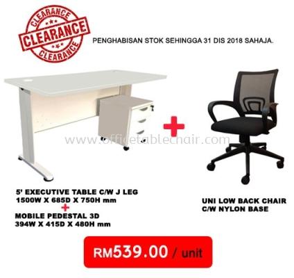 (PROMO SET 2) 5' TABLE + PEDESTAL + CHAIR