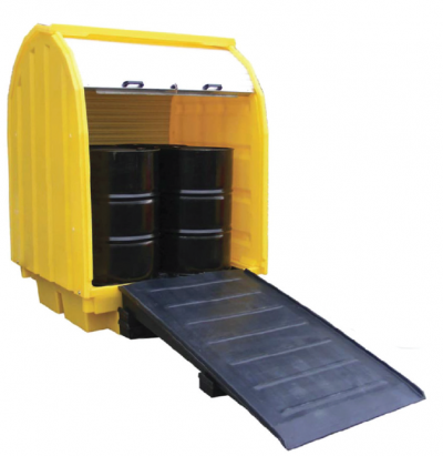 Spill Station TSSBP4RT 4-Drum Roll-Top Spill Pallet