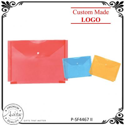 Colorful File Bag Filing Folder Transparent Document Stationery Pack P-SF4467-II