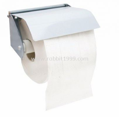 STAINLESS STEEL TOILET ROLL HOLDER - single roll