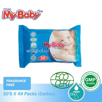 Mybaby Wet Wipes 30's x 48 Packs (CARTON) Fragrance Free