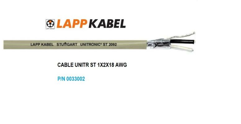LAPP Kabel_1pr 18AWG cable
