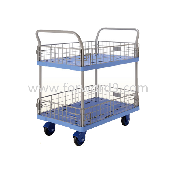 Prestar PF-327-P Double Deck Side-Net Trolley Prestar Series  Truck and Trolley Material Handling Equipment