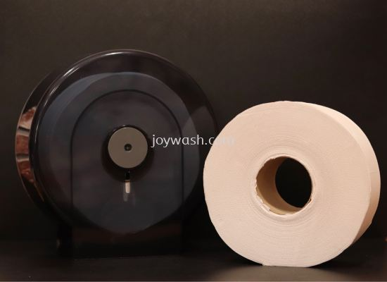 Black Clear Jumbo Roll Tissue Dispenser